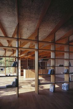 If i make all my interior walls bookshelves, I will have enough room for all my books! Mount Fuji Architects Studio - Geo Metria house, Kanagawa Via, photo (C) Ken'ichi Suzuki. Architecture Design, Two Bedroom House, Interior And Exterior, Interior Design, Interior Walls, Mount Fuji, Floating, Tiny House Movement, Deco Design