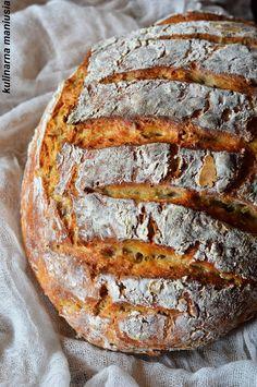 Chleb na kefirze pieczony w garnku Kefir, Bread, Food, Meal, Essen, Hoods, Breads, Meals, Sandwich Loaf