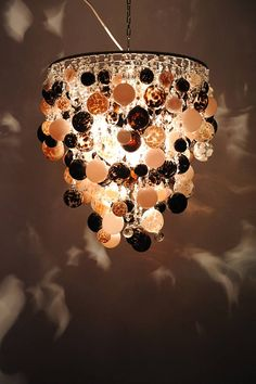 opus chandelier in pink and chocolate 55cms x 55cms