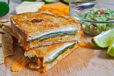 Jalapeno Popper Grilled Cheese Sandwich (replace cream cheese with guacamole)