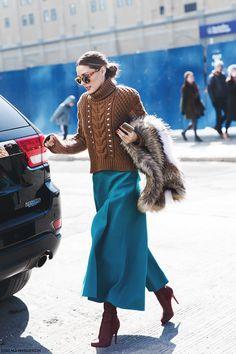 New_York_Fashion_Week-Fall_Winter_2015-Street_Style-NYFW-Olivia_palermo_Culotte-Kitwear-Fur_Scarf-1