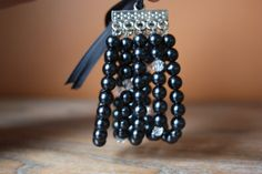 Romantic Cuff style mutlistrand black by AddSomeCharmBoutique, $19.95