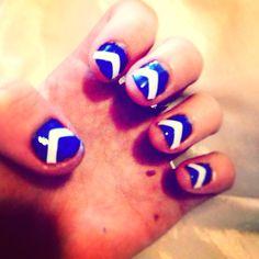 Super easy nail art :)