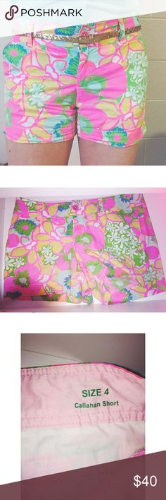 Lilly Pulitzer  Callahan shorts! Awesome condition! A few very small pillies on the inside of the thigh but nothing noticeable. Only worn a handful of times & so cute for summer! Lilly Pulitzer Shorts