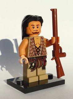 NEW CUSTOM 100% LEGO BATMAN SOLDIER DUAL FACE APACHE TAN INDIAN COWBOY BANDIDO #LEG0