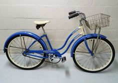1950s SCHWINN SPITFIRE LADIES B6 DELUXE BICYCLE HORNET BLUE  BALLOON VINTAGE | Collectibles, Transportation, Bicycles | eBay!