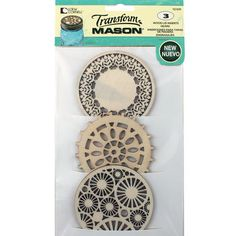 Replace Regular Mouth mason jar lids with these decorative cut-out lid inserts. Perfect for topping potpourri or decorating.
