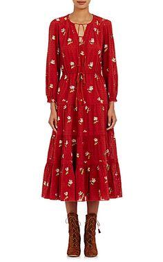 Ulla Johnson Clementine Midi-Dress $350 @ Barneys.com