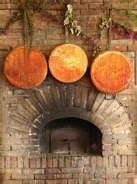 Image Detail Of A Wood Fired Pizza Oven With Fire Blazing Royalty Free Stock Photo, Pictures, Images And Stock Photography. Copper Pots, Copper Kitchen, Diy Kitchen, Kitchen Ideas, Brick Hearth, Wood Oven, Restaurant Concept, Restaurant Design, Fireplace Mantels