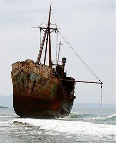 ♂ Aged with beauty - abandoned old rusty ship