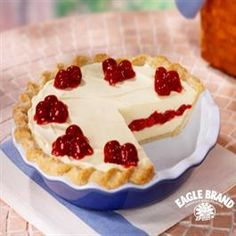 Cherry Vanilla Ribbon Pie from Eagle Brand®
