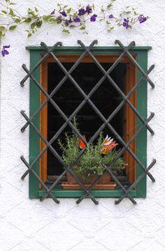 Flower Pot Decorative Window Bars Stock Photo (Edit Now) 168375914 Railing Design, Gate Design, Door Design, Window Grill Design Modern, Window Design, Iron Windows, Iron Doors, Window Security Bars, Iron Window Grill