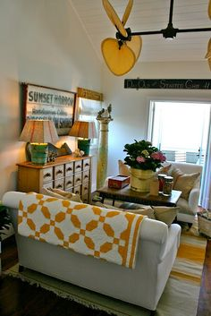 love the pops of yellow-featured on The Lettered Cottage