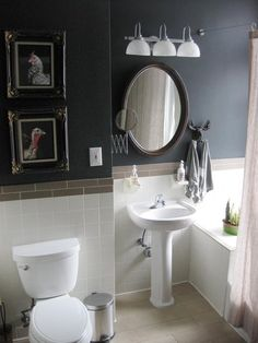 This wall color would look great in my bathroom!
