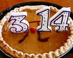 a good way to reuse b-day candles///Happy Pi Day to everyone.  Hope your day is a real slice.