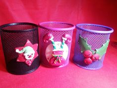 Portapenne natalizi decorati con paste sintetiche