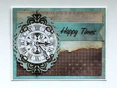 Card MFT clock stamp and die set, MFT decorative corner dies, spellbinders decorative oval, Timeless stamp set MFT dienamics Time Pieces die set - Quality Paper design -