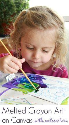 Melting Crayons Art