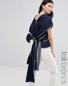 Waven Tall | Waven Tall Sanna Kimono Sleeve Top With Exaggertaed Wrap Back