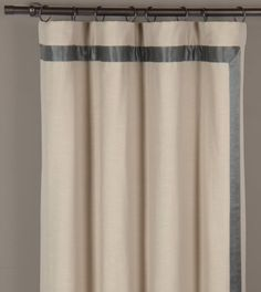 WITCOFF TAUPE CURTAIN PANEL LEFT