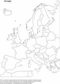 Europe Map For Print Europe Map No Color European Map Blank Printable Europe Map Easy To Draw Printable Map Europe Blank Map Of Europe And Names Geography For Kids, Maps For Kids, Teaching Geography, World Geography, Geography Worksheets, Europe Map Printable, Free Printable World Map, World Map Outline, World Map Tattoos
