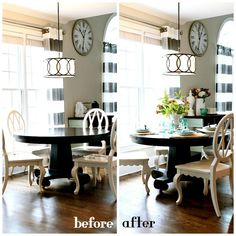 Before and After no cost decorating - shop your house first. Lots of ideas and inspiration!