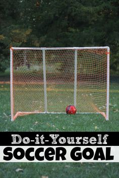 In honor of the World Cup!  Make a DIY Soccer Goal much cheaper (and sturdier) than the store-bought version!
