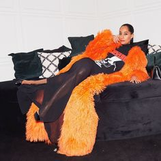 Celebrity Style: Tracee Ellis Ross Orange and Black Outfit Look Tracey Ellis, Tracee Ellis Ross, Fashion Gallery, Style And Grace, Her Style, Lady, Celebrity Style, Celebrity Closets, Black Women