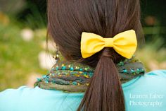 bright yellow for spring...Sunbeam Bow (Mustard Yellow). $4.75, via Etsy.