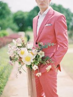 Here's Your Perfect Blueprint for a Whimsical French-Inspired Wedding Dusty Rose Wedding, Red Wedding, Spring Wedding, Wedding Bells, Groomsmen Fashion, Groom And Groomsmen Attire, Affordable Wedding Invitations, Whimsical Wedding, Wedding Inspiration