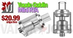 Youde Goblin Mini Rebuildable Tank Atomizer – $20.99
