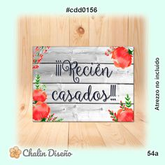 Bamboo Cutting Board, Decor, Texts, Just Married, Red Flowers, Rich Colors, Decoration, Decorating, Deco