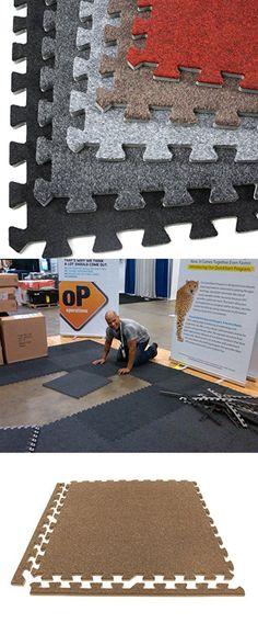 Incstores Eco Soft Carpet Foam Tiles 12 Tiles Black Portable