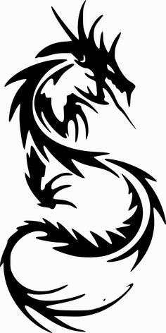 [フリーイラスト素材] クリップアート, 竜 / 龍 / ドラゴン, 神話・伝説の生物, 動物 / 生き物, 白黒, SVG ID:201503241200