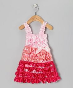 Take a look at this Pink Color Block Ruffle Dress - Infant, Toddler & Girls by Head over Heels on #zulily today!