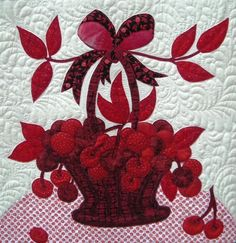 block detail from my quilt, 'Red Delicious'