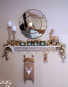 Gold Reindeer Sled...DIY