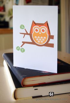 Printable Owl Bookmark and Card - Website not in English, but there is an English download link.