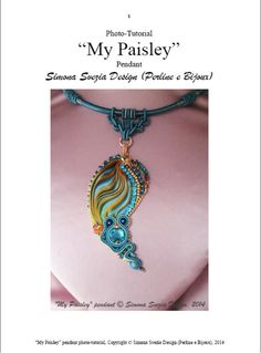 Tutorial MY PAISLEY pendant with shibori silk and soutache on Etsy, $12.49 AUD