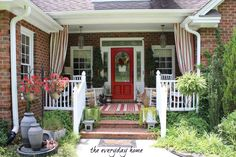Come to Visit, Stay for Supper- the welcoming summer porch from The Everyday Home