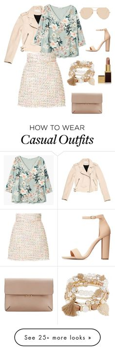 """""""casual trabajo ❤"""" by lulipop26 on Polyvore featuring Linda Farrow, IRO, MANGO, Bambah, Charlotte Russe and Tom Ford"""