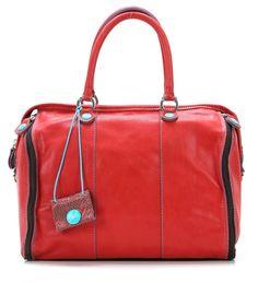 Frida Handbag Leather red 31 cm