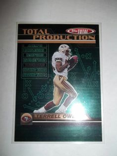 2003 Terrell Owens Topps Total - Total Production Insert # TP8