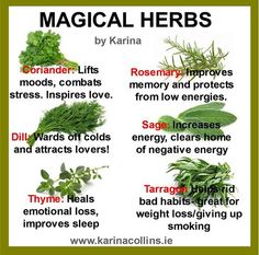 See what you can do with some common herbs! :)