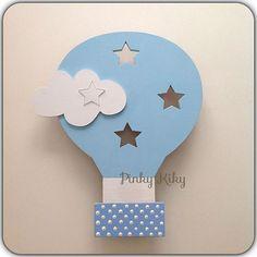 Wandlampe Schlummerlicht Heißluftballon mit Sterne von Pinky Kiky Kinderzimmer Design auf DaWanda.com
