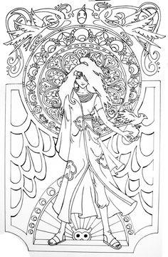 190 Best ✐ Art Nouveau Coloring Pages images in 2019 ...