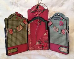 annes papercreations: The Twelve Days of Christmas tag mini album / photo display - Base tutorial Tag series 3