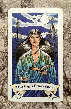The High Priestess from Robin Wood Tarot Deck