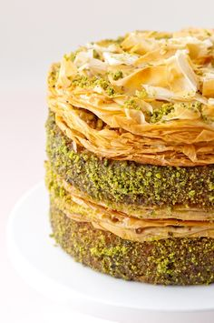 Pistachio Baklava Cake ~ if only this wouldn't kill my husband...