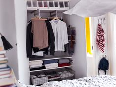 Clothes rail for shallow closets from IKEA